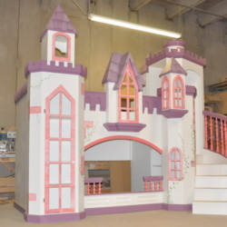 Pink and Purple Princess Castle.