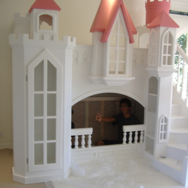 Princess Castle Bed with Curving Staircase
