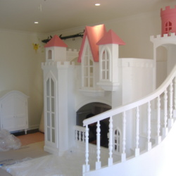 Princess Castle Bed with Curved Staircase