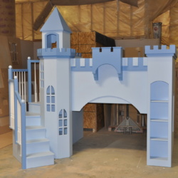 The added features on this Leeds are the octagonal tower, the wrap-around staircase and the center turret.