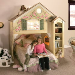 Dollhouse Bunk Bed Standard Design - Hand Painted