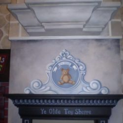 Ellenburg Castle Playhouse - Hand Painted by Client's Muralist