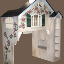 Dollhouse Bunk Bed - Milk Chocolate Colors - Hand Painted