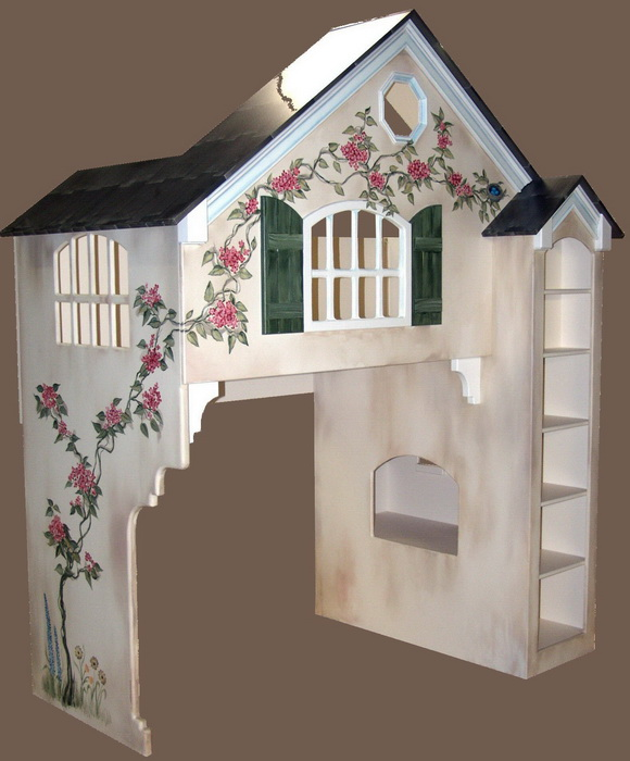 Dollhouse Loft Bed Twin Over Full