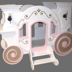 Cinderella Princess Carriage Bunk Bed w/loft