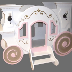 Cinderella Princess Carriage Bunk Bed w/loft