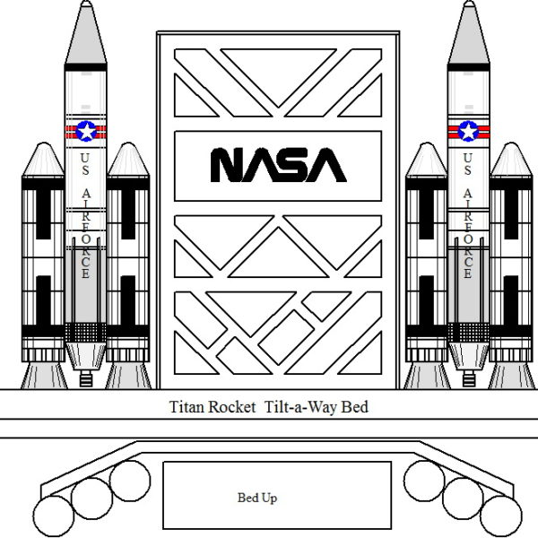 Titan Rocket Ship Bed - Tilt-A-Way (Murphy)