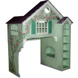 Dollhouse Bunk Bed - Creme de Mint Colors - Hand Painted