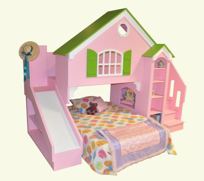 Stair Box In Bedroom: Dollhouse Loft Bed