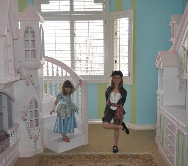 Braun Princess Castle Bunk Bed with matching dresser