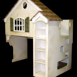 Dollhouse Bunk Bed - Chocolate Bar Colors - Faux Painted