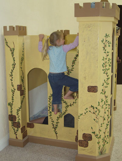 Use the foot holes for access to the loft