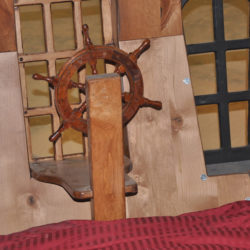 The Helm of the Pearl Pirate Ship Bed with Trundle