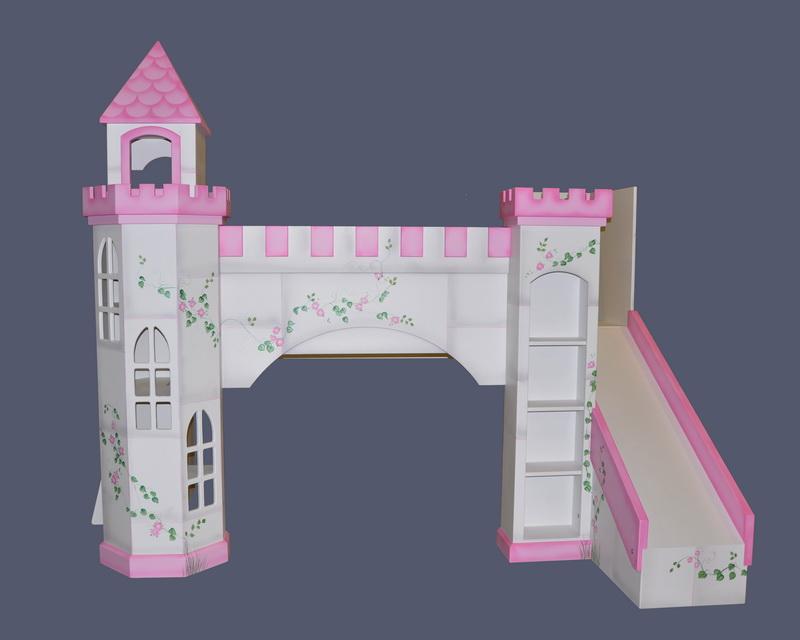 Leeds castle bunk bed designed and custom built by for Princess castle bedroom ideas