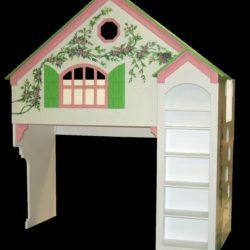 Dollhouse Bunk Bed w/Green Shutters