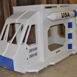 Space Shuttle Bed with Missile
