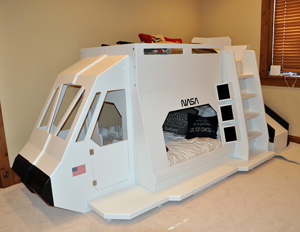 Space Shuttle Bed with Slide Off the Back