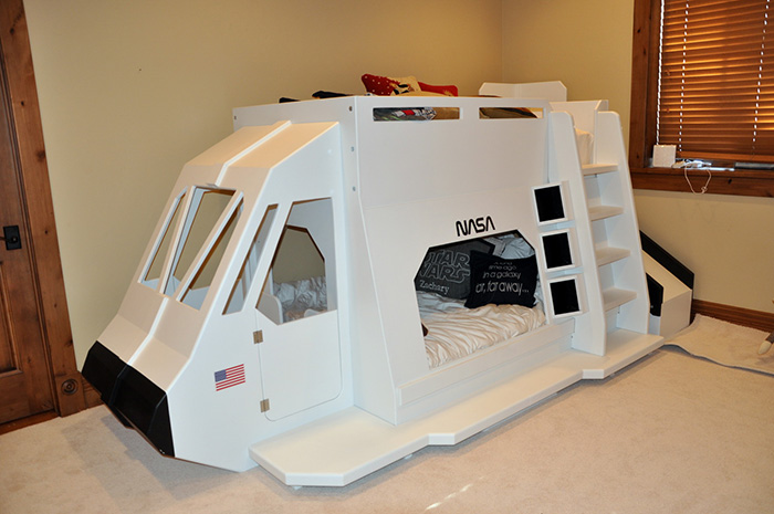 Space Shuttle Bunk Bed - Indoor playhouse, bunk bed, loft ...