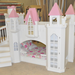 Braun Pink Castle Bunk Bed