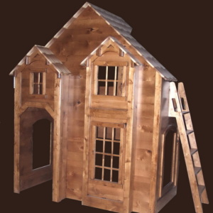 Rustic Knotty Alder Bunk Bed