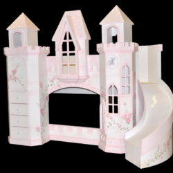 Polton Castle Bunk Bed with curved slide.
