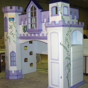 Neuschwanstein Castle Bunk Bed w' Drawer Bank