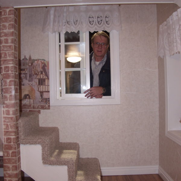 Cottage Playhouse Staircase and Window