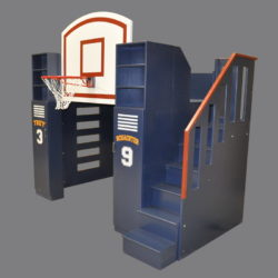 Basketball Bunk Bed w/ Included Staircase and Optional Personalization Kit