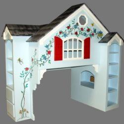 Dollhouse Kids Loft Bed - Custom over Twin