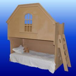 Sophia Bed Unpainted w/ Optional Ladder