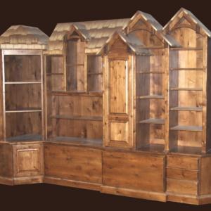 Rustic Bookcase Dresser