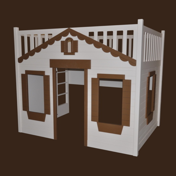 Mindy Cottage Bunk Bed for Children