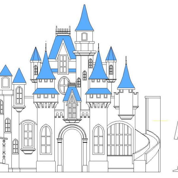 Big Indoor Playhouse - Wizard of Oz Castle