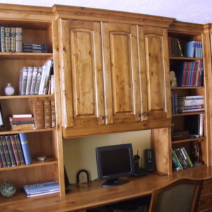 Knotty Alder Cabinets for Study