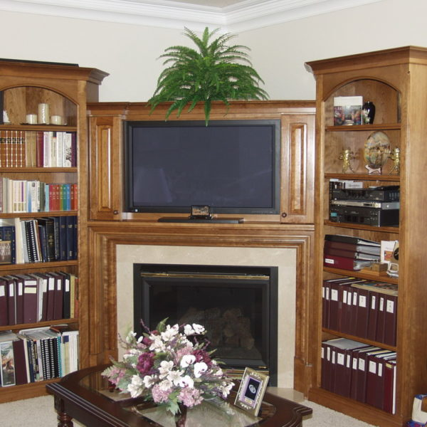 Glazed Cherry Entertainment Center
