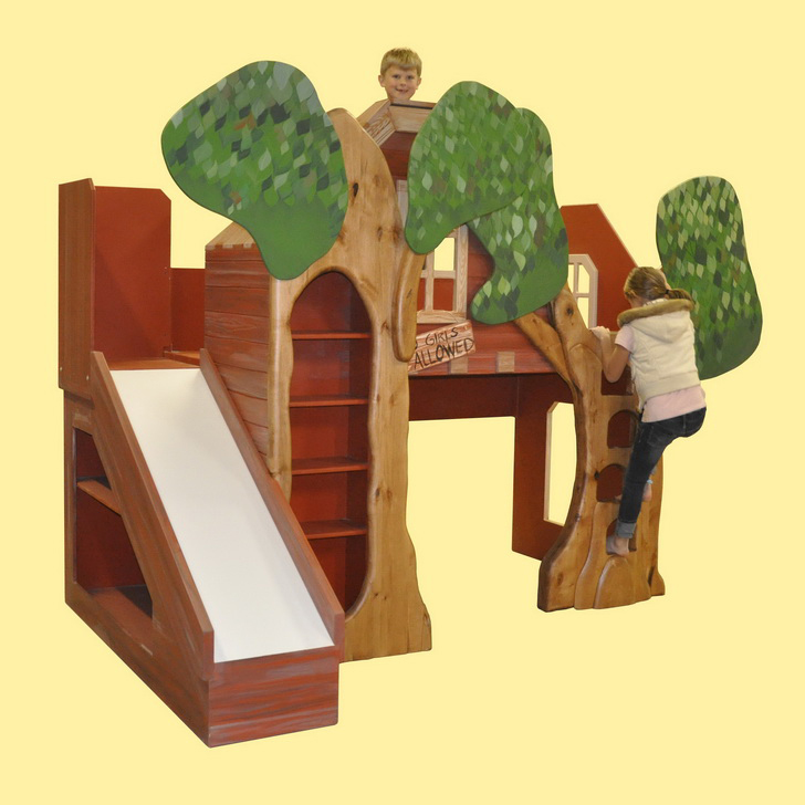 Trevor's Treehouse Bunk Bed and Indoor Playhouse