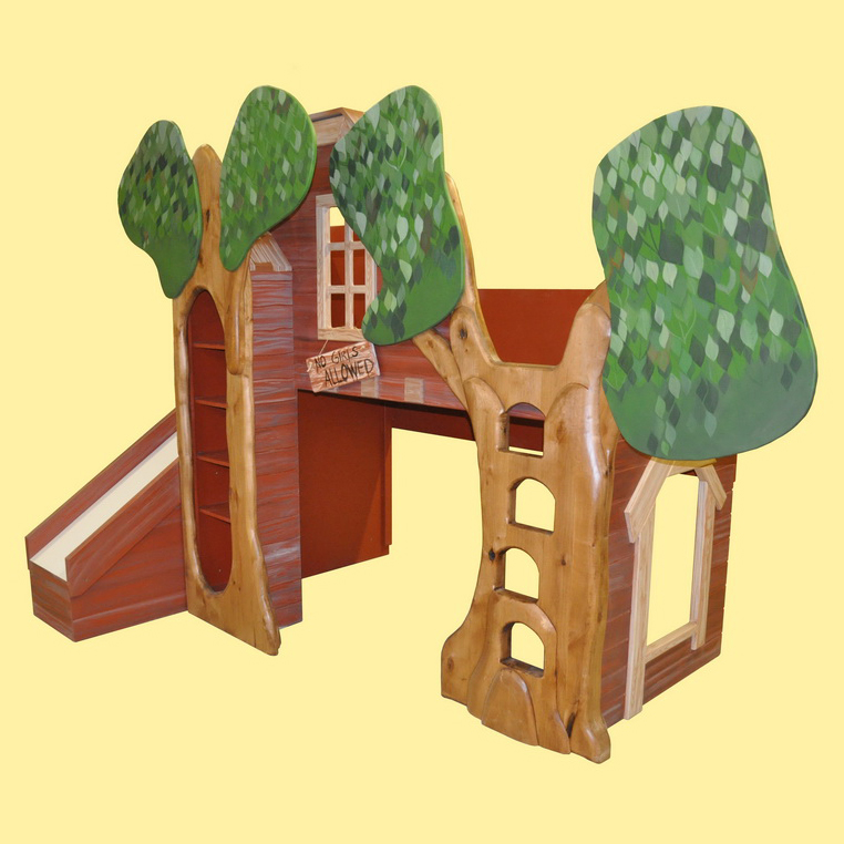 trevor's treehouse bunk bed and indoor playhouse -