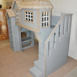 Spanky's Clubhouse Bunkbed / Playhouse - Side View