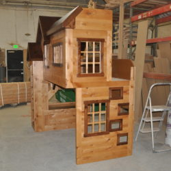 Knotty Alder Playhouse / Bunkbed Side View