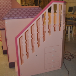 Faux spindles on a Cozy Cottage Bunk Bed