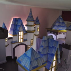 Amaya Castle View of the Loft Towers w' LED Highlights