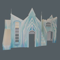 Frozen Castle Bunk Bed w' Optional Expanded Playhouse