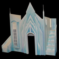 Frozen Castle w' Slide and Stairs