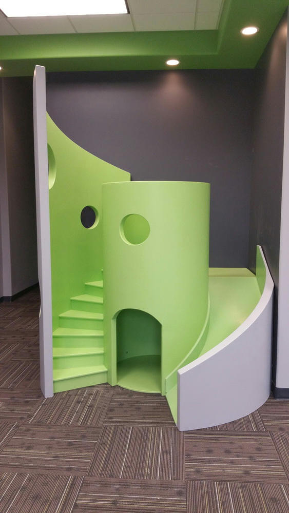 Modern Indoor Playhouse With Slide And Stairs Cache