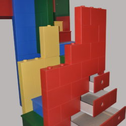 Building Block Bed / Playhouse Staircase w/Drawers