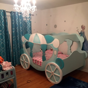 Winter themed princess carriage