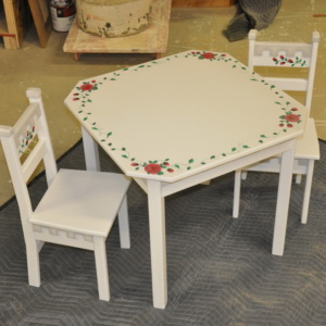 Hand Painted Table and Chair Set