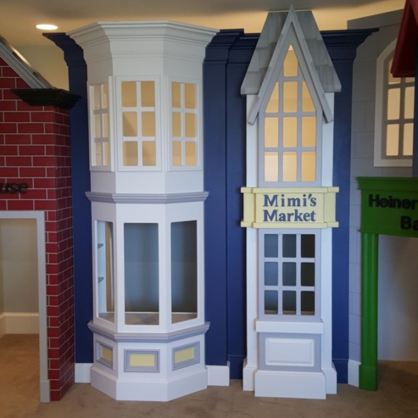 Storefront Playhouse with Bay Windows