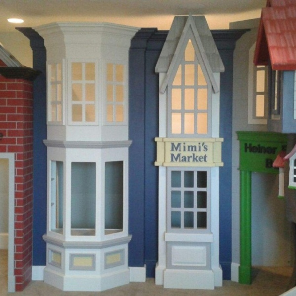 Storefront Playhouse with two floors.