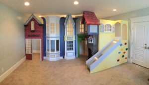 Classic Storefront Playhouse with Slide